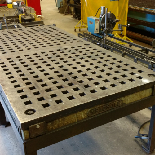 Weld Table and Custom Rotary Welding Positioner